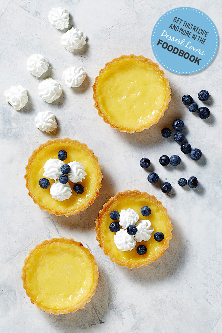 Make this classic lemon tart recipe from Kitchen Aid as features in the myfoodbook 2016 Dessert Lovers Foodbook