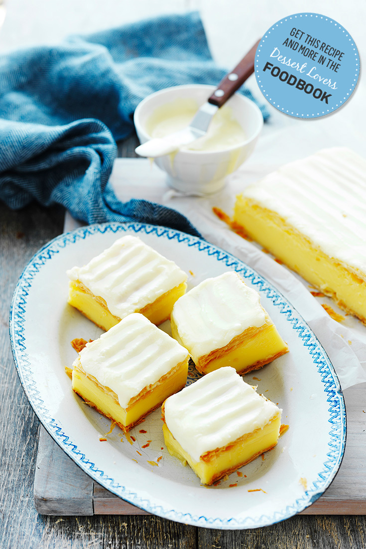 Make this traditional custard slice by Devondale as featured in the Dessert Lovers Foodbook 2016