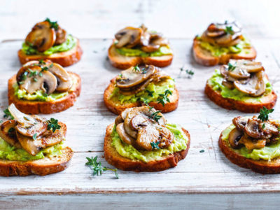 Mushroom and Avocado Toastie Recipe