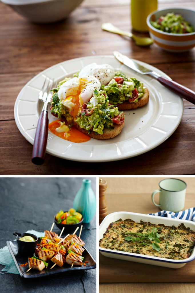Recipes for a healthy New Year: Poached Eggs with Avocado Smash and Feta. Teriyaki Swordfish Skewers. Watercress and Pea Frittata