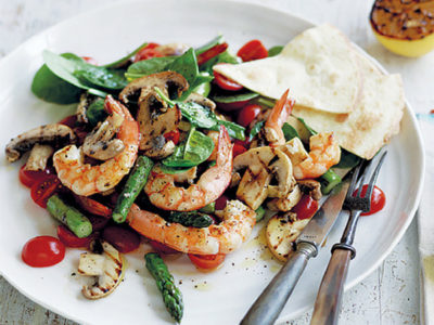 Mushroom and Prawn Salad Recipe