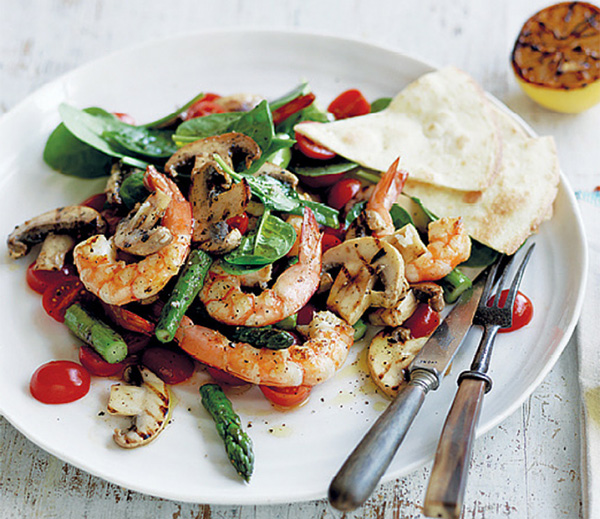 Mushroom and Prawn Salad Recipe