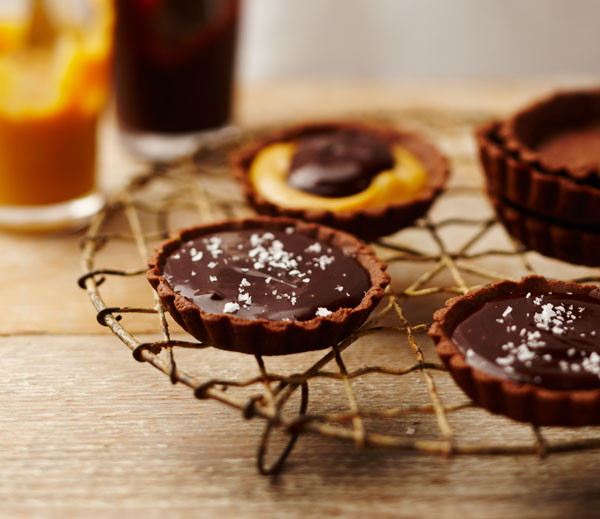 Salted Caramel Tarts recipe by The Dairy Kitchen