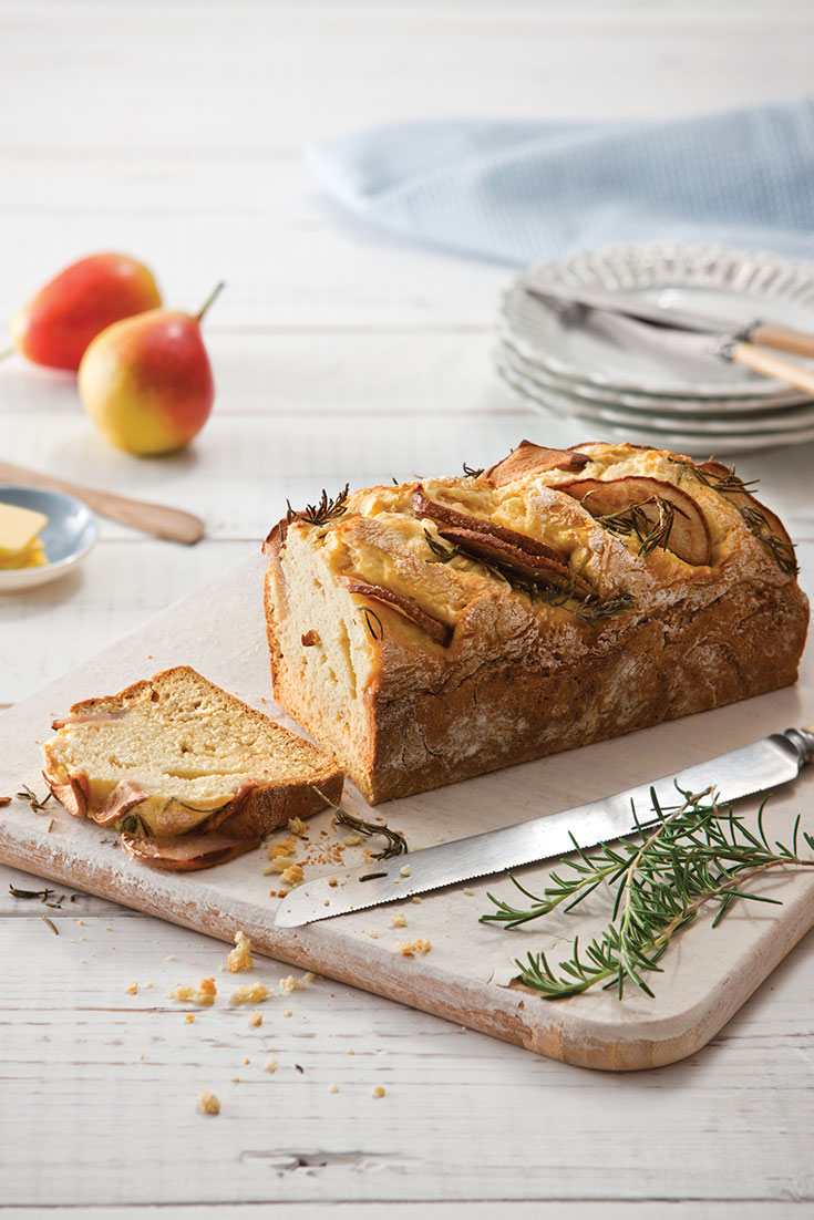 The flavour combinations in this fabulous pear and rosemary loaf from the Mother's Day Fookbook 2016 are delicious and ideal for entertaining