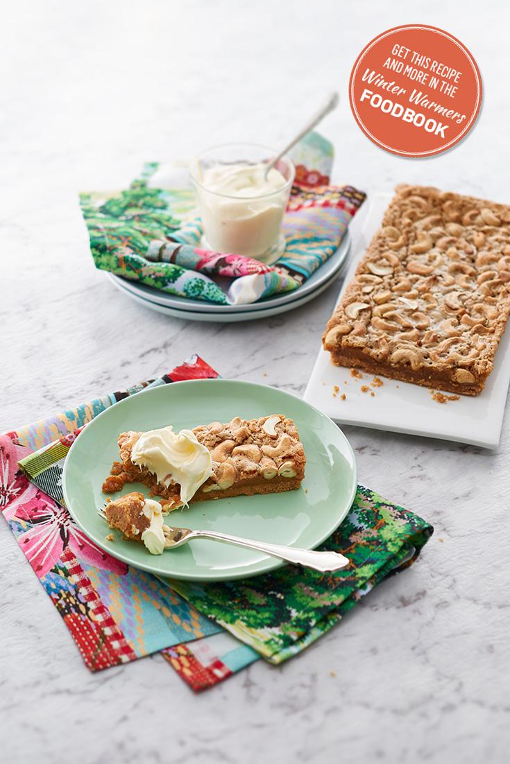 Easy and delicious Caramel Tart recipe.  An easy winter dessert recipe you can make when entertaining