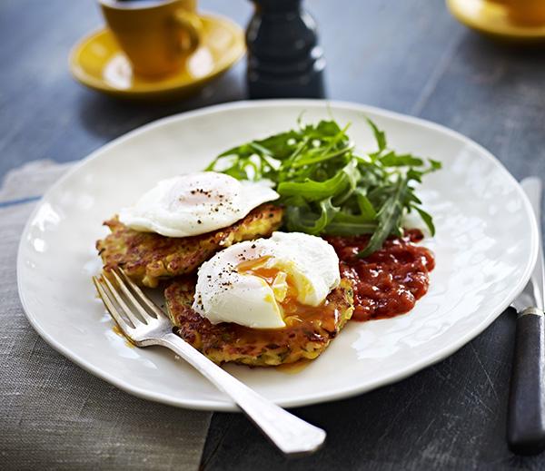 Cheesy Corn and Zucchini Fritters - Australian Eggs