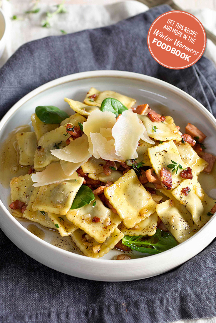 Create a delicious ravioli recipe with your copy of the Winter Warmers foodbook 2016