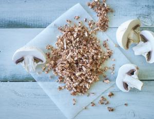 Chopped mushrooms for blending