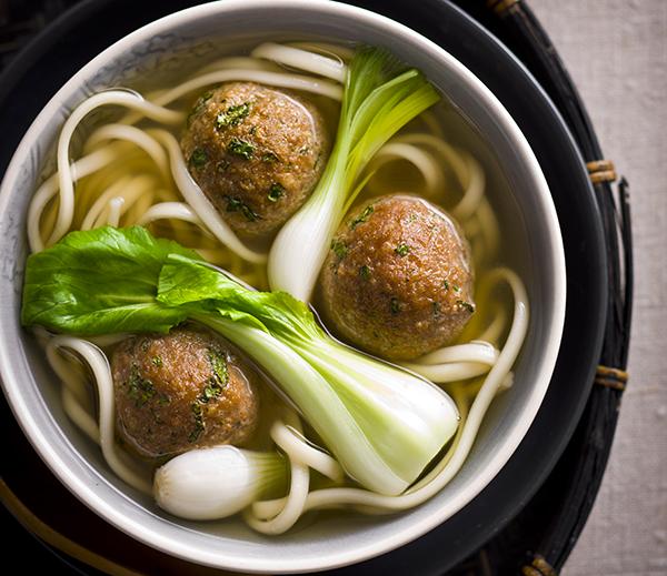Asian Style Turkey Meatball Soup