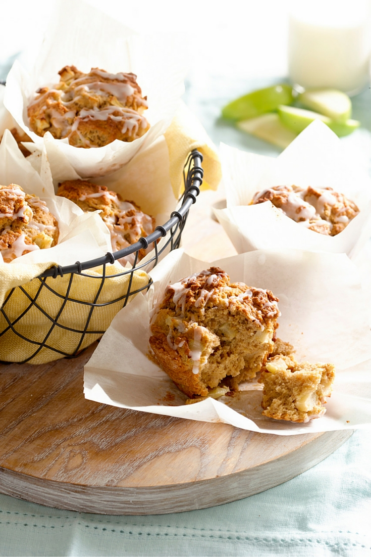 Apple and Cinnamon Muffins - A lovely baked snack or treat to get the kids cooking.