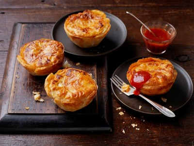 Home made mini party pies for game day recipes and footy finals food