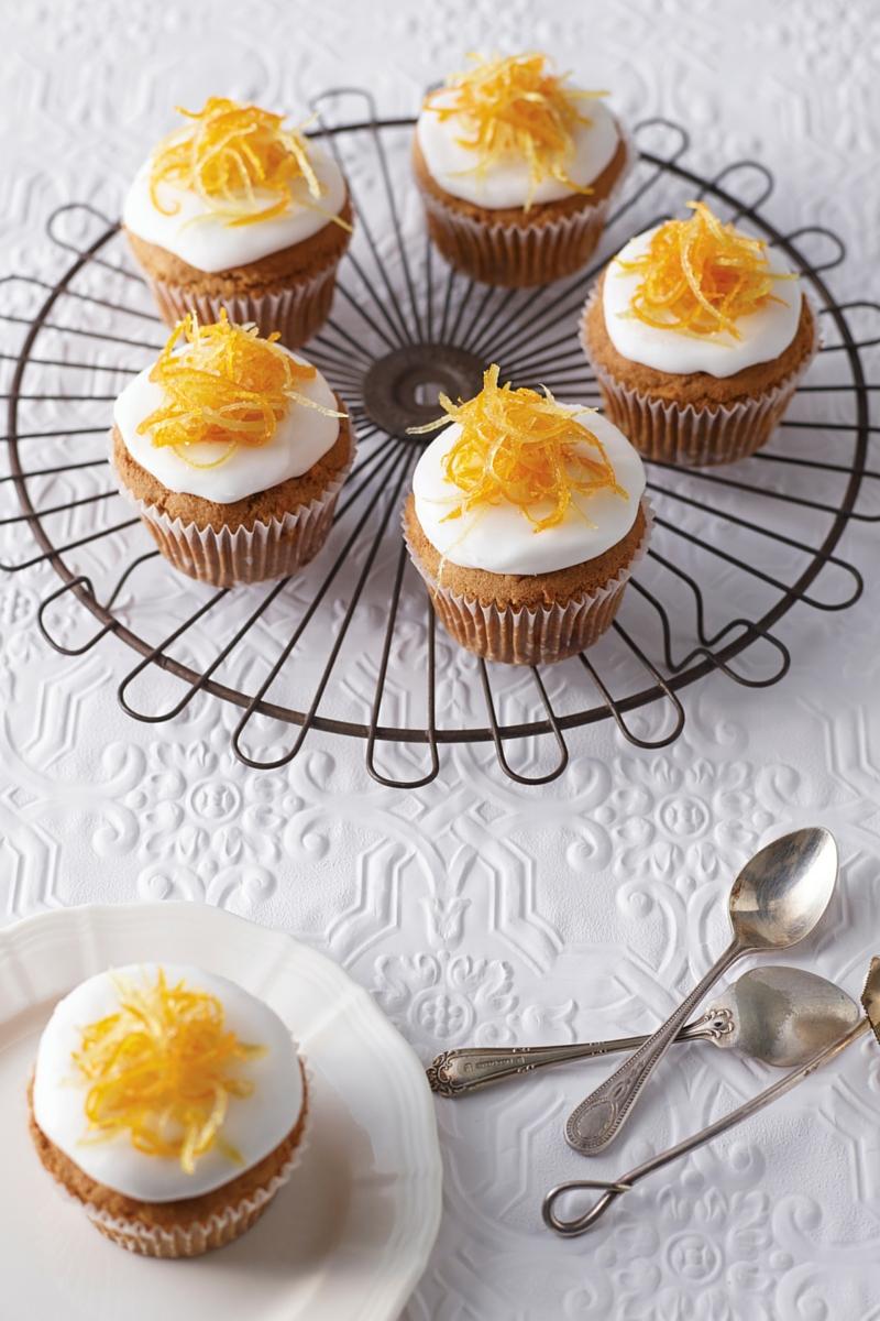Gluten Free Ginger & Carrot Cupcakes