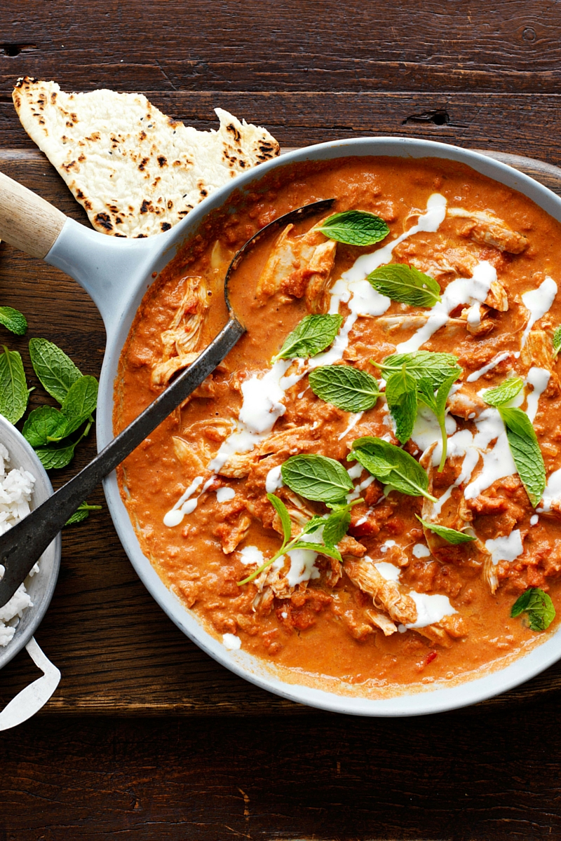 Make a batch of Indian Tomato Butter Sauce, then add a few extra ingredients to create an easy Butter Chicken