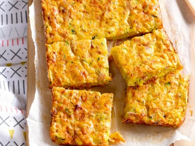 Easy lunch recipe - ham and cheese bake