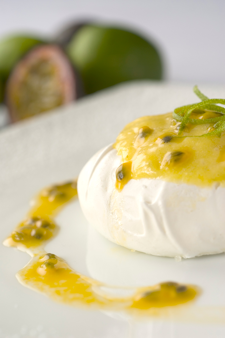 Meringue Nests with Lime Curd and Passion fruit - A divine little party dessert recipe