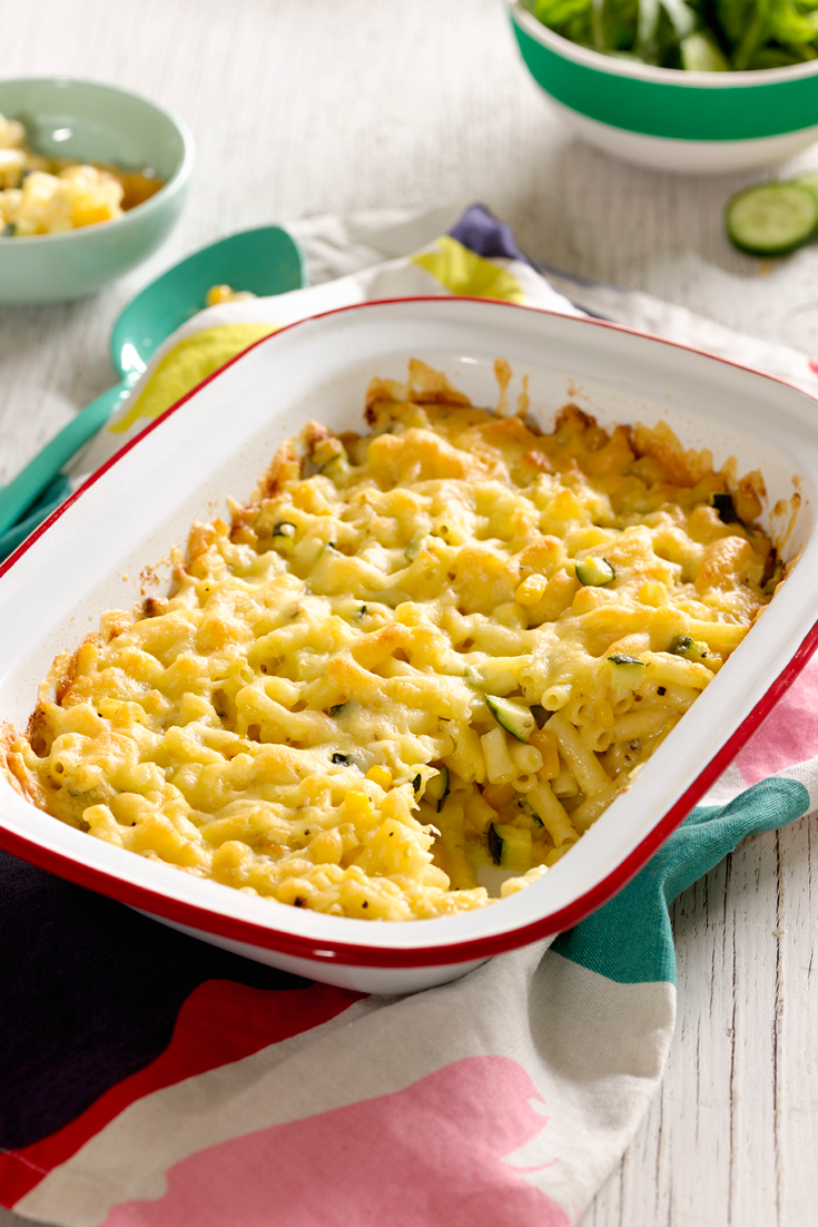 Quick Macaroni, Cheese and Veggie Bake - A perfect veggie smuggler recipe to get the kid's eating those vegetables.