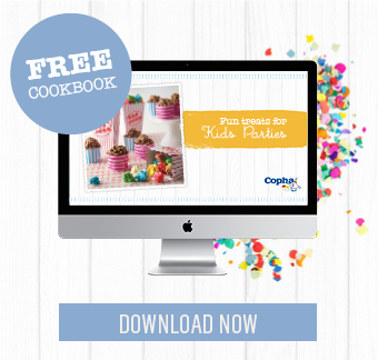 Make the best fun treats for kids parties with the recipes in this gorgeous, free cookbook.