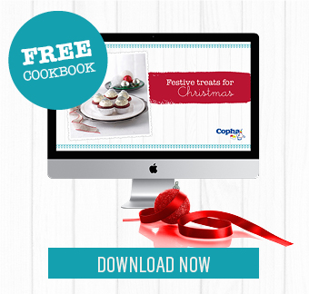 A collection of beautiful, festive treats for Christmas in one pretty, free cookbook.