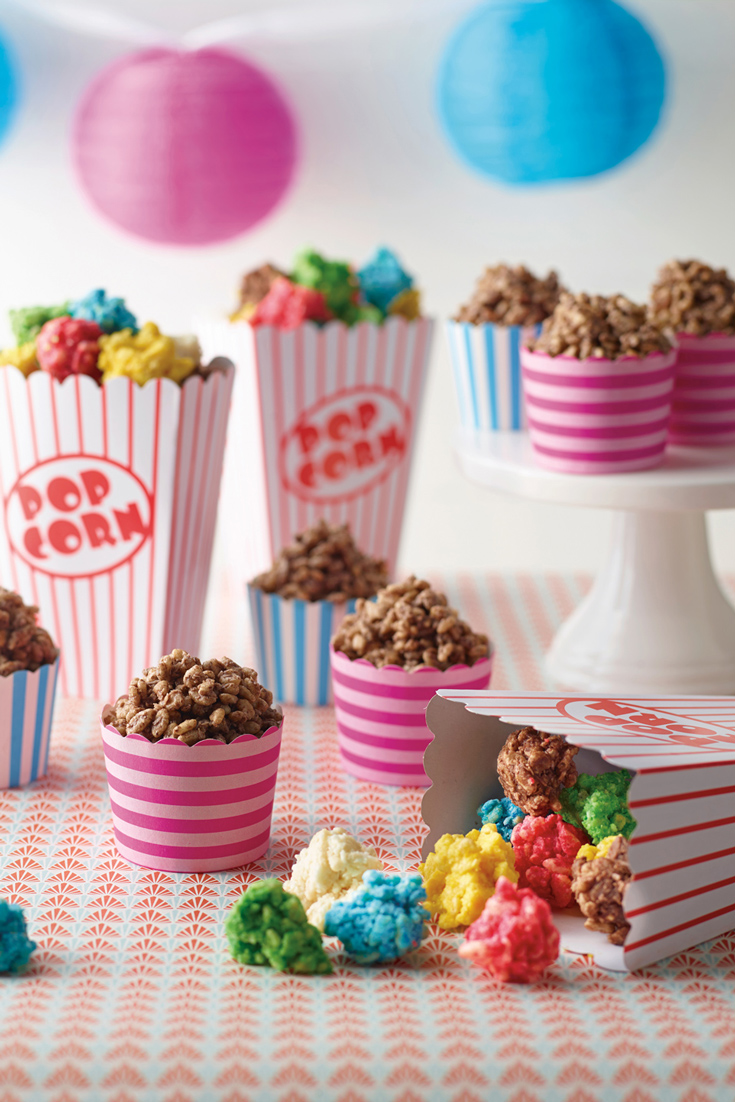 Chocolate Crackle Popcorn a light and yummy kids party food cookbook
