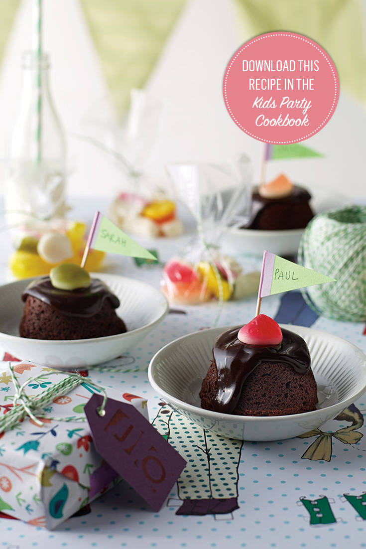 Mini Chocolate Mudcakes recipe for kids parties
