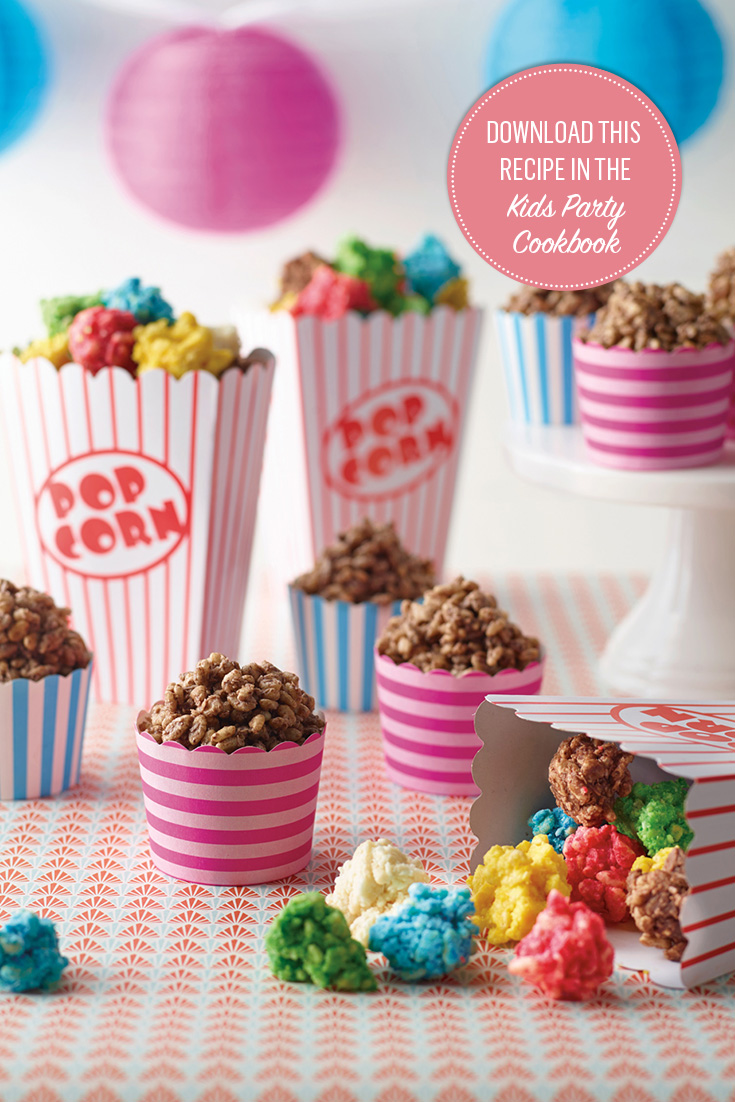 Chocolate Crackle Popcorn is the perfect treat for kids parties
