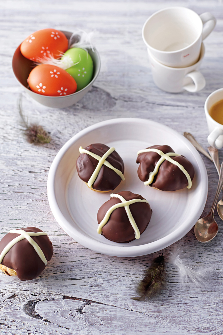 Mini Easter cream puffs - Learn how to make easy Easter desserts with this recipe and more in the Copha Cookbook