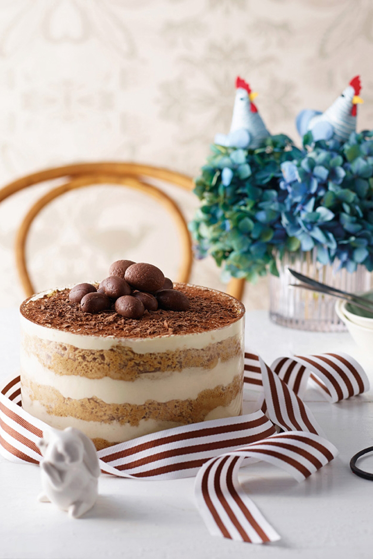 Gluten Free Easter Tiramisu a delicious dessert recipe perfect for easter parties. from Copha's cookbook