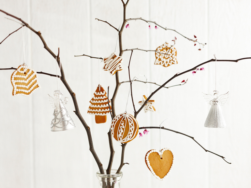How to make Gingerbread Tree Decorations - fun and easy, edible, festive Christmas treat recipe