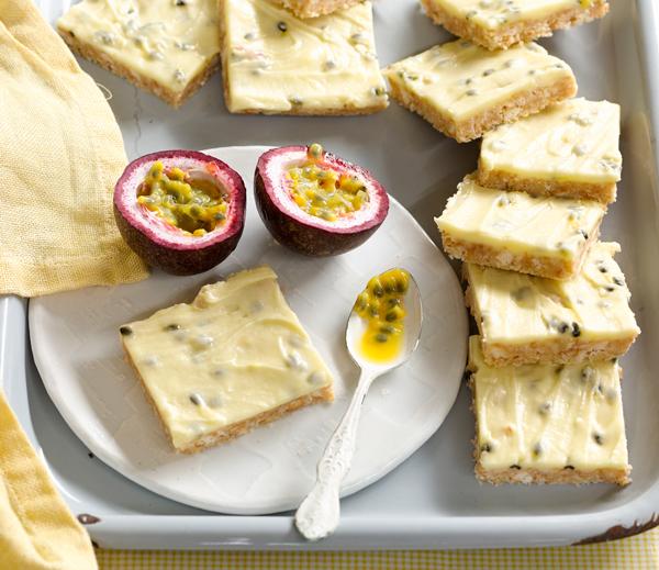 Delicious summer baking recipe, passionfruit slice