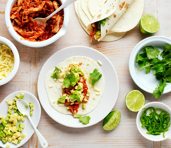 Slow Cooked Chicken Tacos Recipe using slow cooker