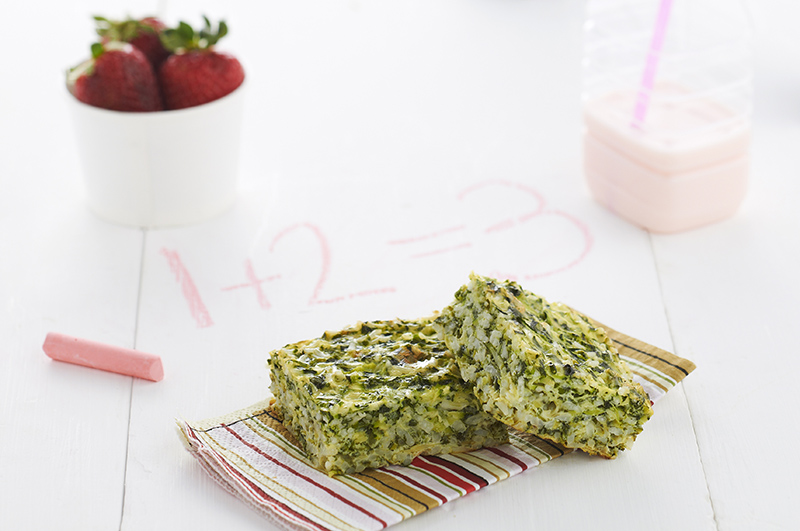 Spinach and Zucchini Rice Slice