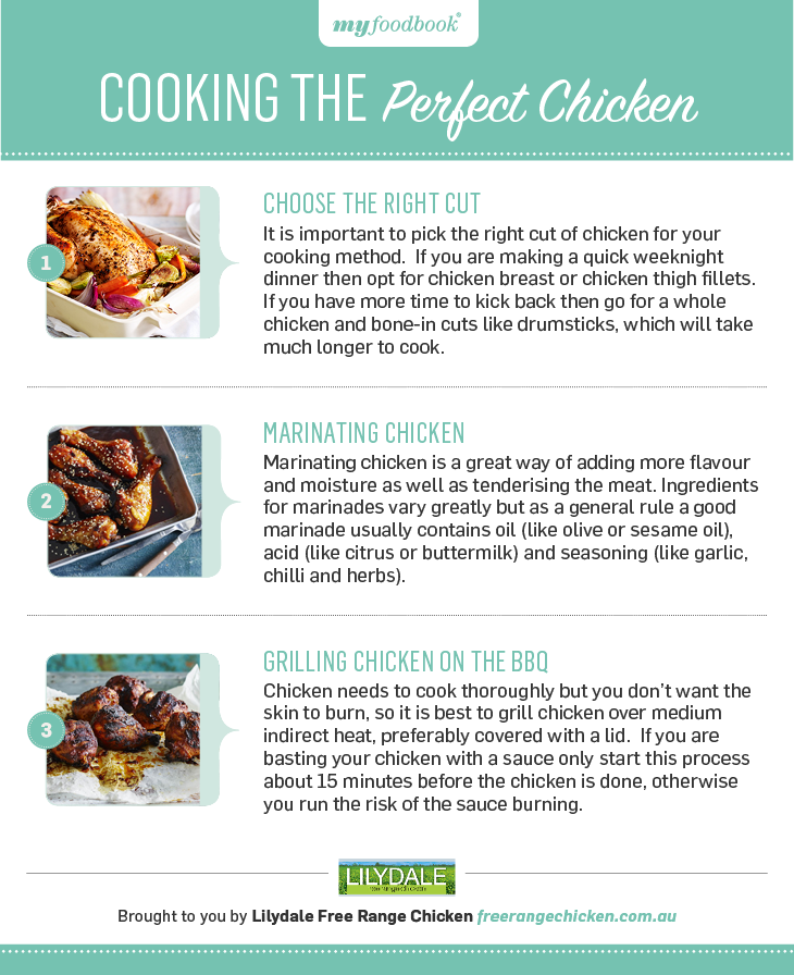 Three steps to cook chicken perfectly