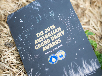 Australian Grand Dairy Awards 2016 - a delicious spread of award winning dairy produce