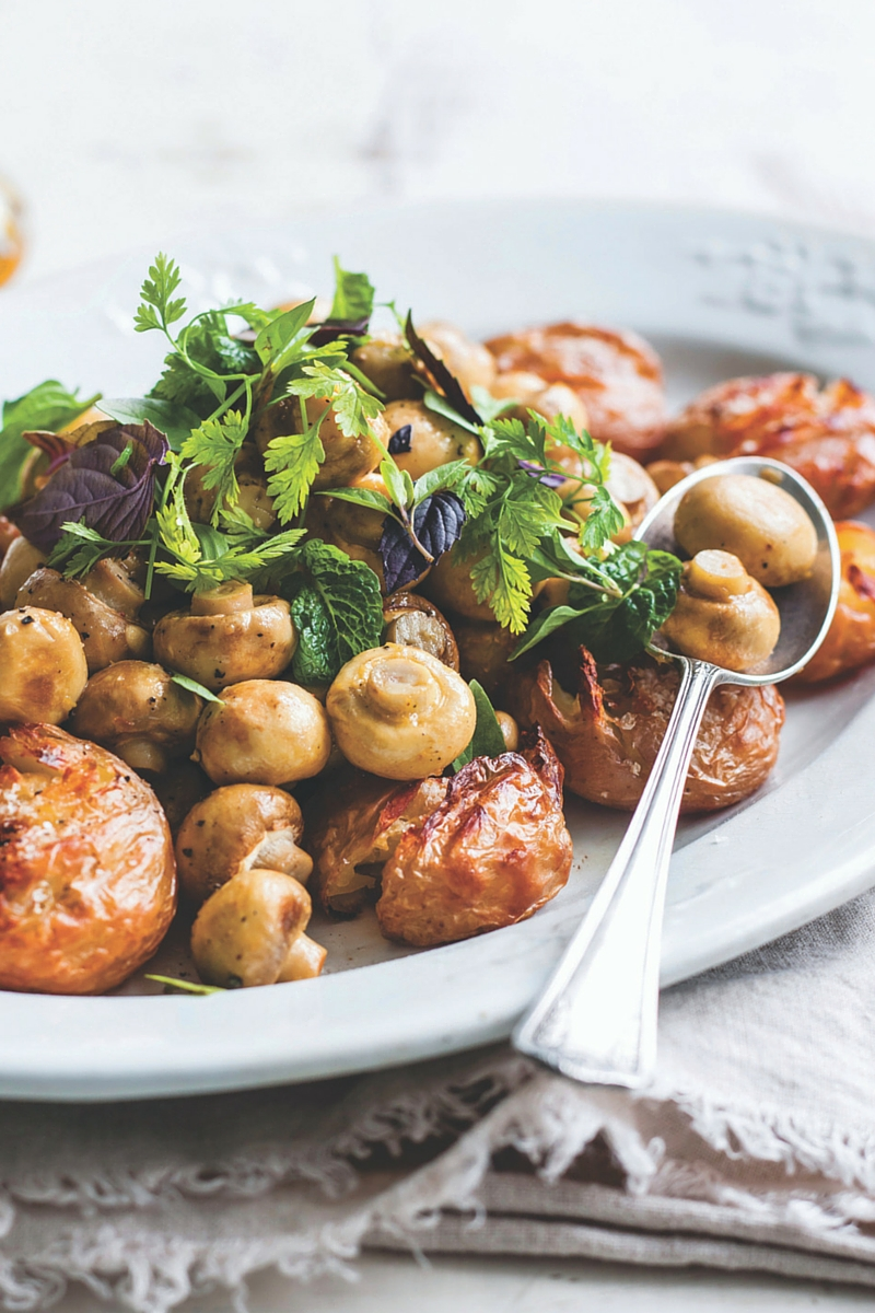 The perfect roast mushroom and potato salad