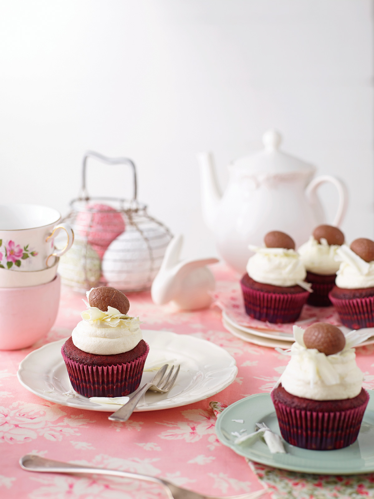 Delicious red velvet cupcake recipe for easter baking. Make this recipe from our Easter baking collection with kids this Easter.