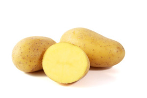 This is a Nadine Potato. Its buttery flesh makes it ideal for making gnocchi.