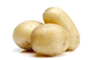 This is a Nadine Potato. It has a smooth and creamy flesh and is great for potato salads.