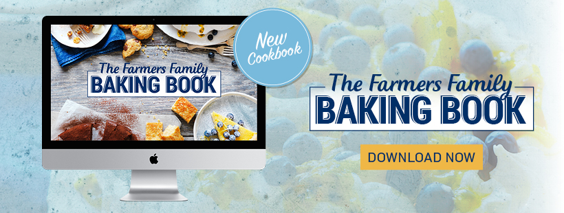 Get a copy of the Devondale Farmers Family Baking Book to creating delicious baked treats in the kitchen