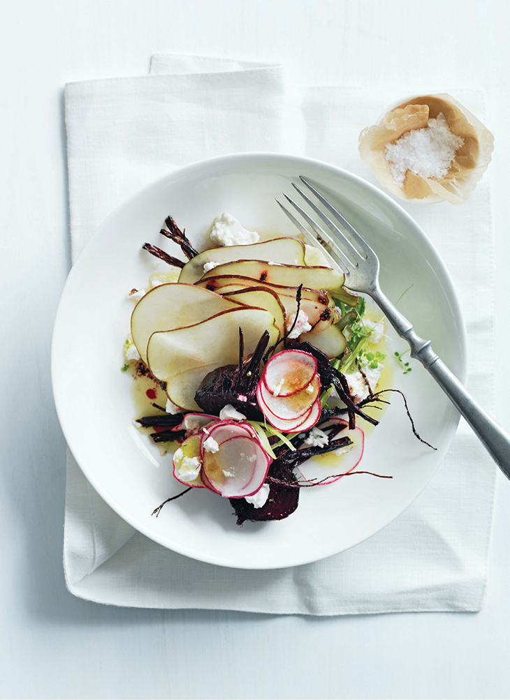 Create the ultimate autumn dish with beets, goats cheese and Australian Pears.