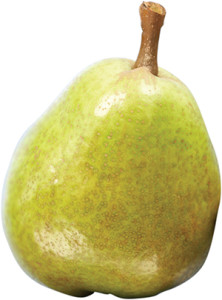 This is a williams pear, it is in season from January to May, find out more about Williams pears.
