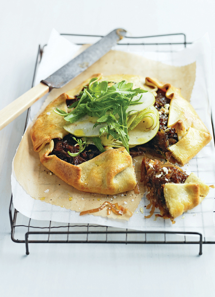 Get cooking with pears and make this delicious caramelised onion and pear tart for the ultimate Autumn recipe