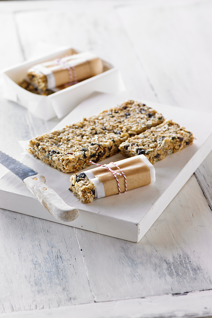 Create coconut and macadamia muesli bars with revile as an easy breakfast idea