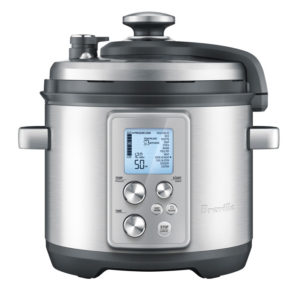 The Fast Slow Cooker from Breville is a combination slow cooker and pressure cooker.