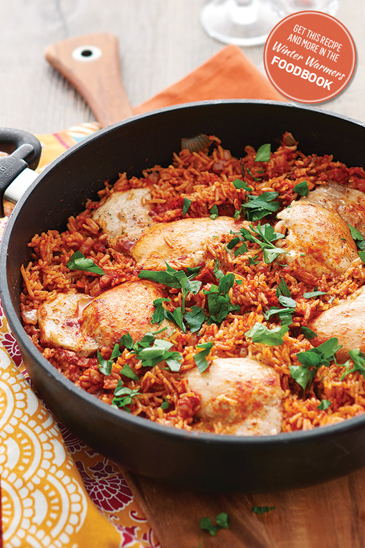 Enjoy this chicken pilaf recipe from the winter warmers foodbook 2016