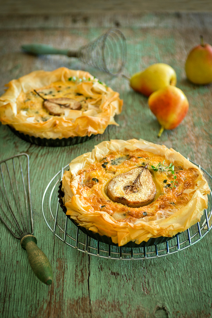 Pear and blue cheese is one of the best flavour combinations and is perfect in this tart