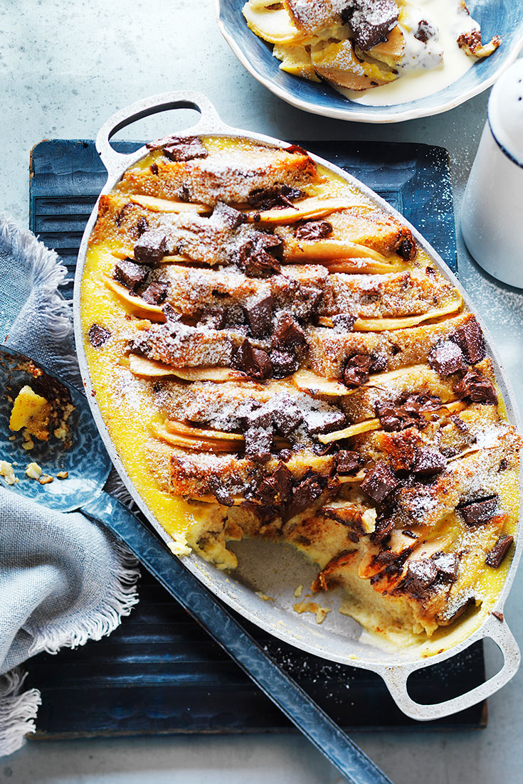 Pear and dark chocolate is one of the great flavour combinations you can create with pears