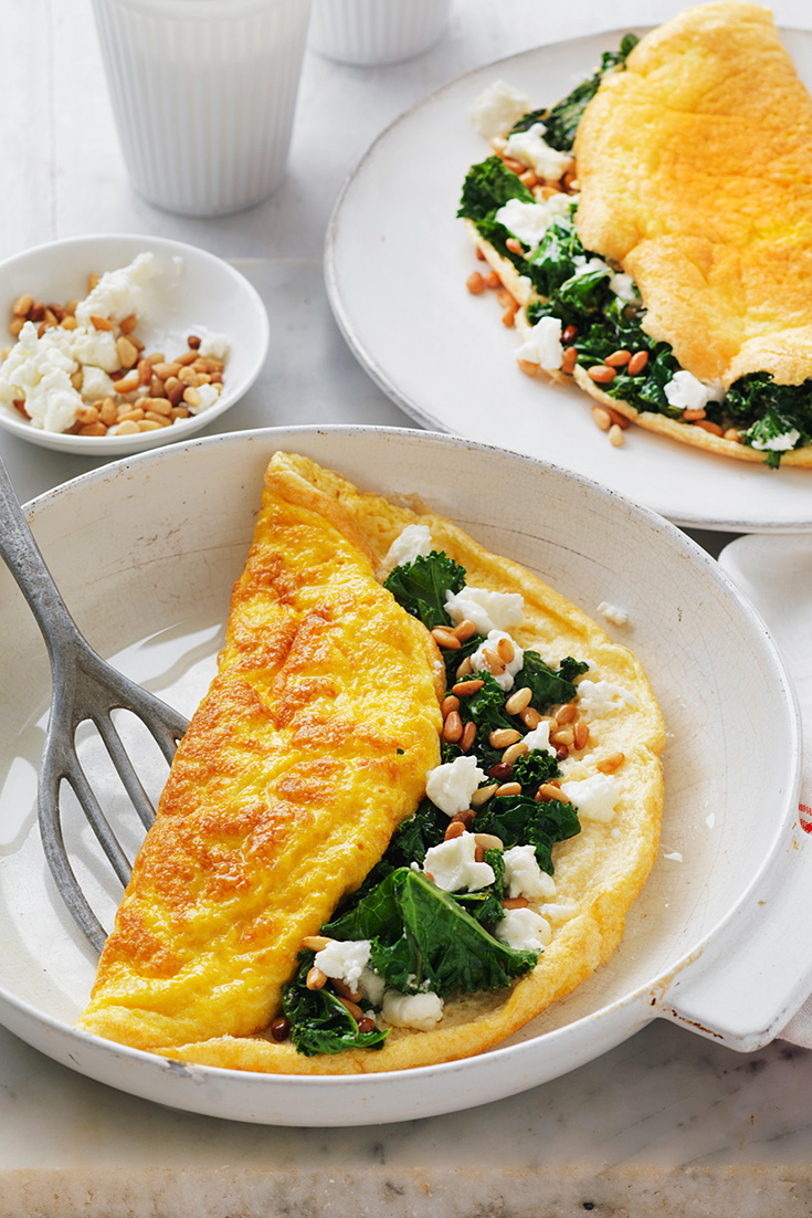 This Goat's Cheese omelette is one of the best quick dinner ideas when you don't feel like cooking