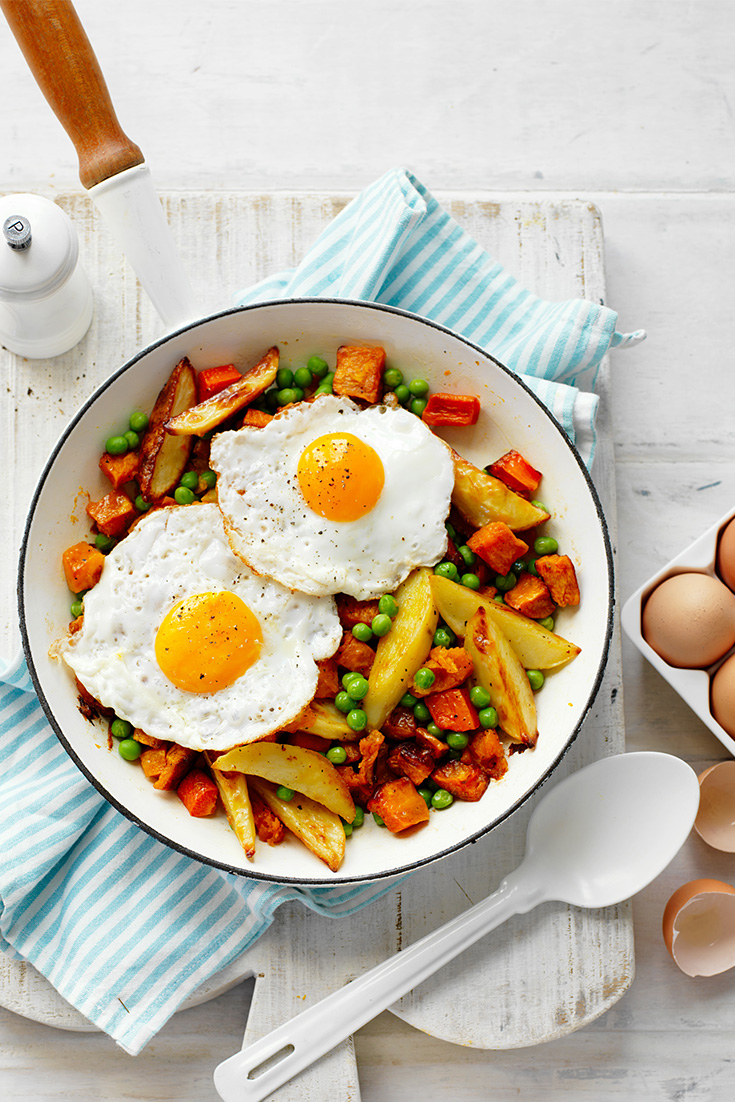 Make this easy dinner idea for bubble and squeak with a fried egg on top