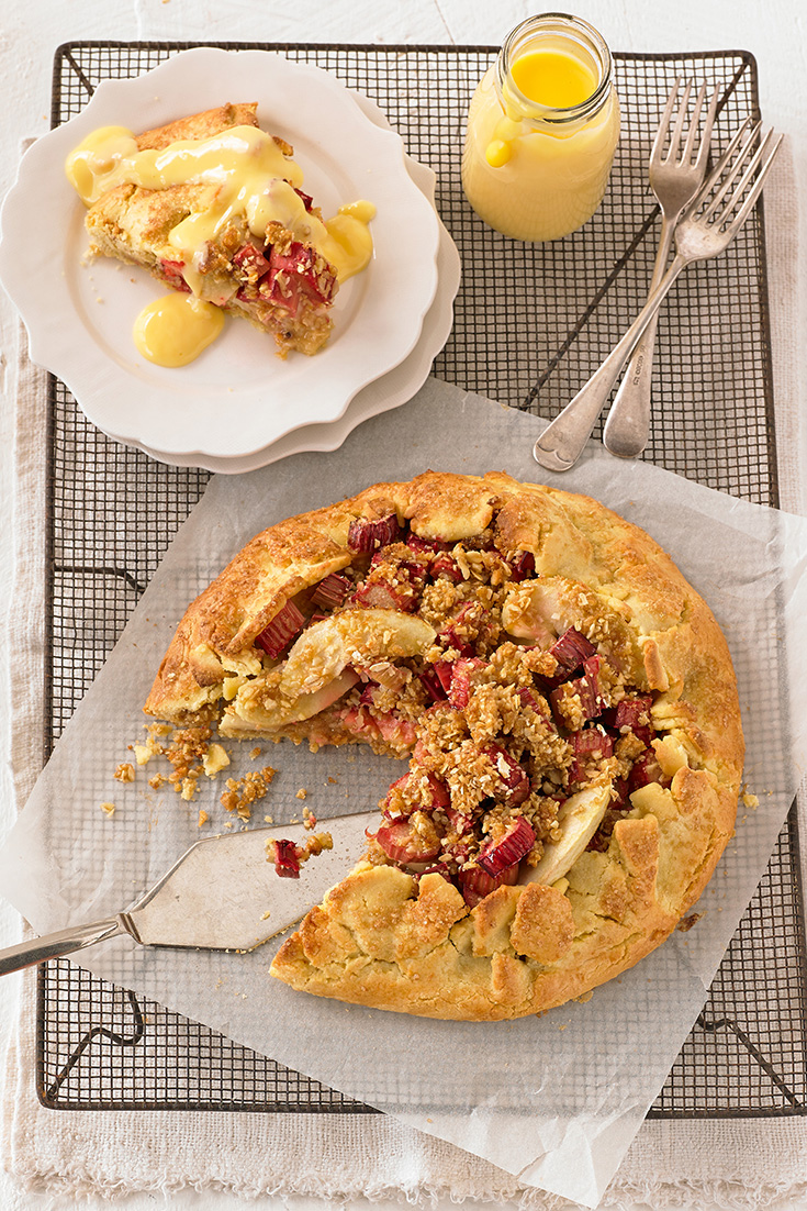 Creating this free form apple and rhubarb pie is a great way to get cooking with apples