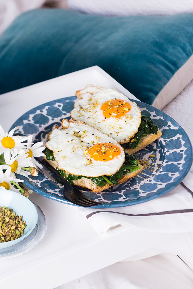 Create this delicious fried egg recipe with dukkah as a simple brunch
